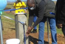 Photo of Kabi delivers water in Leribe